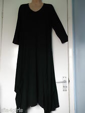 Join Clothes Jersey Dress with Gathered Hem Detail Black Large