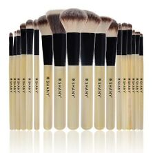 SHANY Triple Bamboo Pro 18 PC Brush Set - Synthetic & Natural Hair with Apron