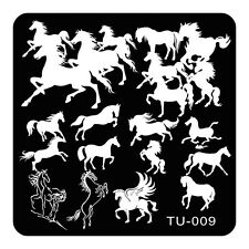 HOT Manicure TU Nail Stamping Plate Stainless Steel Nail Art Stamp Template T-09