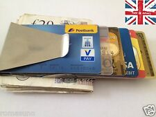 Stainless Steel Money Clip Credit Card - Home Office Accessory Gift Present