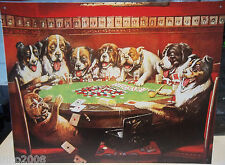 DOGS PLAYING POKER/,  LARGE METAL SIGN 40X30CM, 16X12 INCH, GAMBLING/ PETS