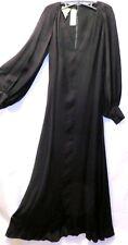 Jean Louis scherrer paris noir haute couture robe de soirée taille 38 avec laine