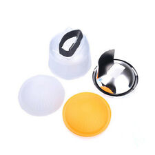 4pcs Cloud lambency flash diffuser White dome cover Set  Universal