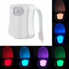 Human Body Motion Sensor Activated 8 Colors Changing Toilet Bowl Seat LED Light