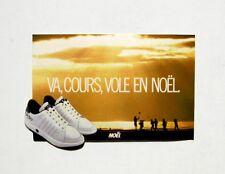 Autocollant VA COURS VOLE EN NOEL -Chaussure  -  Sticker collector -Vintage