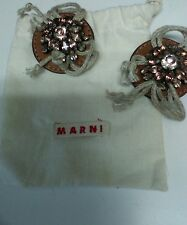 Marni designer shoe bag clips leather & crystals beautiful pre owned Jeffreys NY