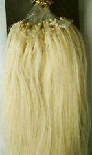 """24"""" Remy Human Hair Loop Tip In Extensions 100s 50g 0.5g/s #60 Platinum Blonde"""
