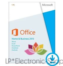MICROSOFT OFFICE 2013 HOME & AND BUSINESS 32/64BIT ESD *ORIGINALE*FATTURA RETAIL