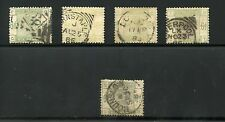 GREAT BRITAIN QUEEN VICTORIA  SCOTT#105  SG#194  LOT OF 5  USED