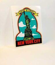 New York City & Statue of Liberty Vintage Style Travel Decal, Vinyl Sticker
