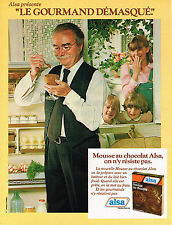 PUBLICITE ADVERTISING   1979   ALSA mousse au chocolat