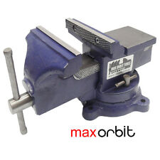 "6"" Inch Heavy Duty Bench Vice, Grip Clamp Capacity 150mm + Free Swivel Base"