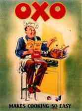Metal Sign Oxo Chef 283 A5 8x6 Aluminium