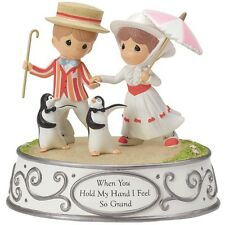 ♫ New PRECIOUS MOMENTS DISNEY Musical Figurine MARY POPPINS Penguins MUSIC BOX