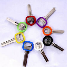 8pc Round Hollow Silicone Key Cap Cover Topper Keyring ID Marker Tag Bly Braille