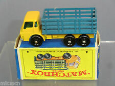 "MATCHBOX  LESNEY MODEL NO.4d DODGE STAKE TRUCK   ""RARE BLUE PLASTIC BACK MIB"