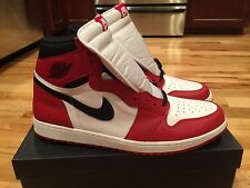 "2015 Nike Air Jordan 1 Retro High OG ""Chicago"" Bred 555088-101 Size 18 SUB BOX"