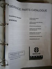 New Holland combine header WWHEAD : catalogue de pièces 2001