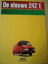 Fiat 242E Van brochure Jul 1984 German text