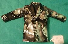 Silver and Black Satin Suit Jacket for Ken Barbie Doll KNOW19