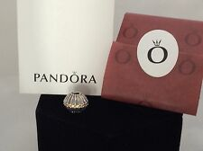 Auth Pandora 790870CZM Retired Orange Show Stopper Bead 925 Sterling Silver