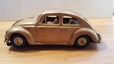 VTG Bandai Volkswagen Beetle Gold Tin Toy Friction Car Made in Japan