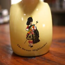 "Dewar Highlander Wade PDM England ""White Label"" Scotch Whisky Ceramic Pitcher"