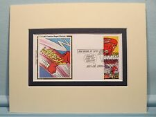 DC Comic Book Super Hero Flash & First Day Cover of his own stamp