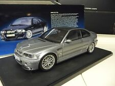 1:18 Autoart BMW m3 CSL Steel Grey Metallizzato NUOVO NEW