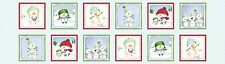 Snow Much Fun Snowman Panel Patchwork Blue by Quilting Treasures (24 by 44 in)
