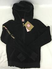 Juicy Couture Hoodie Jacket Velour Long Sleeve NWT Black JC Loves NY Size S