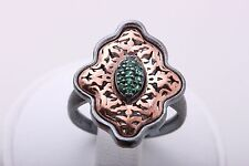 Hurrem Sultan! Turkish Handmade Jewelry Emerald 925 Sterling Silver Ring 7.25
