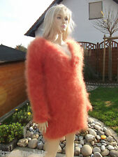 Traummohair p2o Fluffy longhair mohair suéter Sweater Jumper V-Neck New S-M