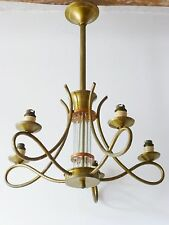MAGNIFIQUE LAMPE PLAFONNIER 1940-1950 VINTAGE FRENCH 40S 50S CEILING LIGHT