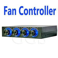 "3.5"" PC CPU Temp 4 Channel Fan Speed Controller Control Led Cooling Front Panel"