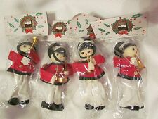 Vintage Toy Soldier Drum Christmas Made in Tiawan Flocked Ornaments NIP NEW Lot