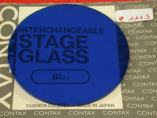 Original Contax Stage Glass Glas Screen PC Bellows Balgen Macro Blau Blue (7)