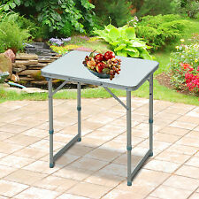 Picnic Table Patio Outdoor Folding Portable Camping Square Top Dining Aluminum