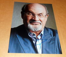 Salman rushdie * la satánicas versos *, original signed photo 20x25 (8x10)