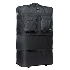 "40"" XXL Black Rolling Wheeled Duffel Bag Spinner Suitcase Duffle Bag Luggage NEW"