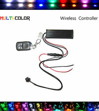 Motorcycle Lighting Strip Kit LED RGB 15 Color Remote Accent Control Module