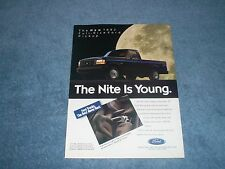 "1992 Ford F-150 Nite Full-Size Pickup Vintage Ad ""The Nite is Young"""