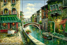 "Ching Italian Cafe Canal Art Ceramic Tile Mural Backsplash 18"" x 12"" - CHC080"