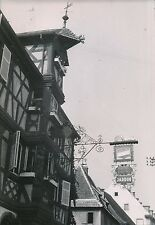 """COLMAR c. 1935 -  Enseigne Fer Forgé """"Hôtel des 2 Clefs""""  Haut-Rhin - P 548"""