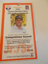 2003 Greater Hartford Open Golf Tournament Phil Mickelson Badge Ticket  SK3