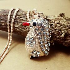 Fashion gold-plated Penguin pendant Crystal Long Necklace Sweater chain JJ237