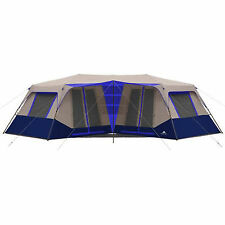 Instant Camping Tent 10 Person Cabin Blue Outdoor Shelter Family Hiking Travel