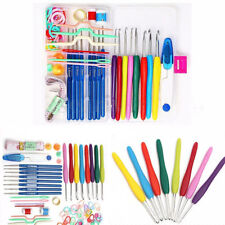 16 sizes Crochet hooks Needles Yarn Stitches knitting Craft Case Crochet Set New