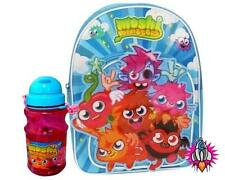 MOSHI MONSTERS 3D BLUE BACKPACK AND DRINKS CONTAINER RUCK SACK SCHOOL BAG NEW