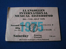 Llangollen International Musical Eisteddfod  Ticket   1975